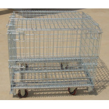 Foldable Wire Storage Cage with Wheels