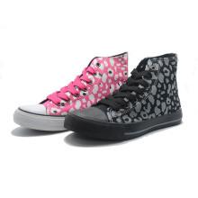 Muster Leinwand grundlegende klassische Bandage Damen Turnschuhe Männer hohe Schuhe