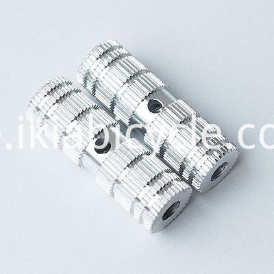 BMX pegs chrome silver