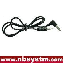 3.5 plug estéreo reto para 3.5 cabo de conexão estéreo de ângulo reto