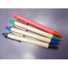 Логотип подгонять эко-бумаги ручка с деревянными зажимом