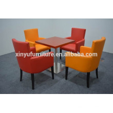Modern colorful best selling restaurant table and chair set XYN1256