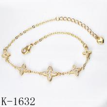 Ювелирные изделия 925 серебро микро-проложить CZ браслеты для молодых девушек.