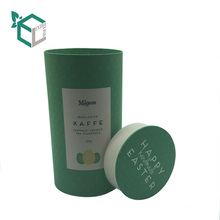 eco friendly round paper box good sealing for tea cookie coffee paper tube packaging