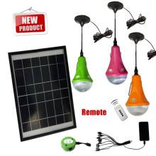 Пульт дистанционного управления солнечной дома светодиодов с 3 Светодиодные лампы для дома аварийного освещения