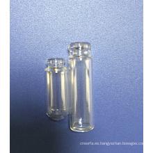Botella de cristal de botella transparente Tubular forma Mini Perfume