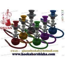 Coloured Glass klein-Shisha Wasserpfeife mit Metall und Keramik-Teile
