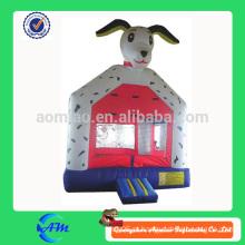 Bouncer inflável do cão do ponto pequeno do tamanho