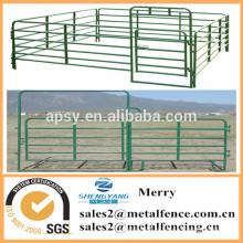 utilidad en polvo revestido de ganado cerca de la granja caballo corral valla panel