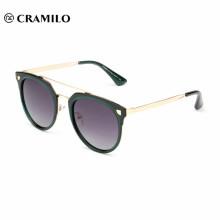 фондовая мода металлический каркас круглый объектив женщины поляризованные очки