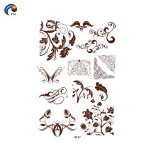 Utilisation de pochoir au henné avec de la pâte de henné au Yincai