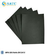 Papel de lija de carburo de silicio negro para madera y metal