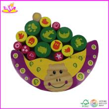 Jeu de bloc d'équilibrage Hippo en bois (W11F009)