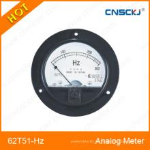 62t51-Hz medidor de frecuencia analógica montado redondo hecho en Zhejiang