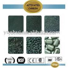 Carbono ativado cilíndrico para purificação do ar