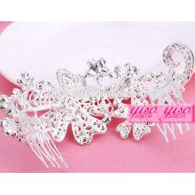 Fábrica direta fazendo quente venda cristal mini rhinestone tiara coroa