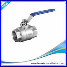 A melhor válvula de esfera do aço inoxidável 2PCS com linha