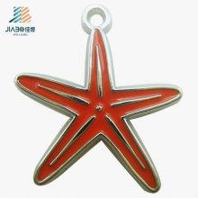 Pendente feito sob encomenda do metal do encanto quente do esmalte da estrela da venda para o presente da acção de graças