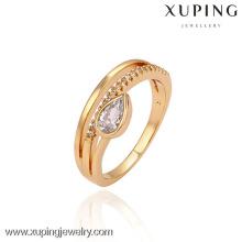 13449 Китай Xuping мода сияющий 18k позолоченный женщины кольцо