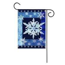 Digitaldruck Winter Schneeflocken Custom Garden Yard Flags