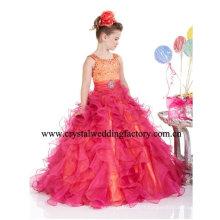 Robe de soirée à carreaux à la robe à la robe à rayures rouge ornée de perles à la perruque CWFf4645