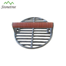 Wholesale Round Barbecue Bbq Cooking Meat Burger Cast Iron Grill Press