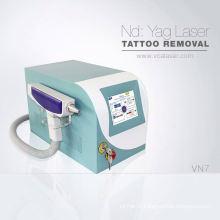 Appareil de salon de beauté saphir ruby laser machine de suppression de tatouage