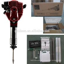 52cc 1700w gás de gasolina portátil a gasolina demolição martelo máquina disjuntor handheld gasolina elétrica mini jack martelo