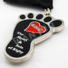 Streamline shape custom medal of fastest honor recipients