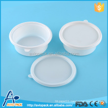 Microwave and refrigerator safe white airtight disposable food container