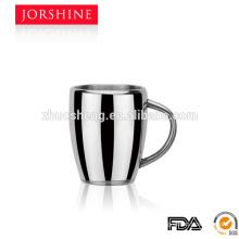 260ML High quality and Hot sale double wall Coffee Mugs with metal handle