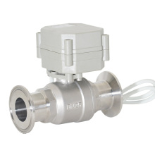 CE Sanitary Clamped Ball Valve 2 Way Electric Flow Sanitary Ball Valve (T25-S2-A-Q)