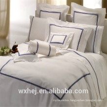 High quality queen size White Luxury Embroidered Hotel Bedding Duvet Cover Sets