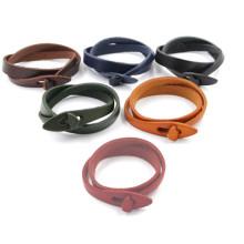 Accesorios de la mano para los hombres Anchor Clasp Leather Bracelet