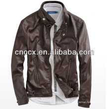 14PUJ8011 men pu leather jacket