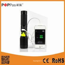 Poppas 6618 Super Power Multifunction Rechargeable USB Flashlight