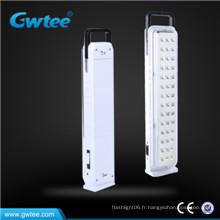 Éclairage de secours rechargeable LED à énergie solaire