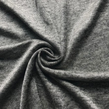Polyester cationic melange single jersey fabric