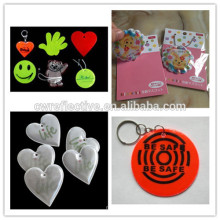 3M reflective stickers/Plastic Material and pvc key chain Type reflective PVC label