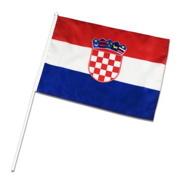 Bandeira de mão bandeira da Croácia promoção bandeira voando