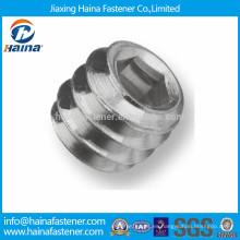 DIN913 Tornillo de fijación hexagonal de acero inoxidable con punta