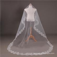 2017 Kathedrale Hochzeit Brautschleier lange Spitze