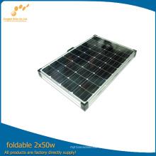 Equipo plegable del panel solar 100watt para acampar (SGM-F-2 * 50W)