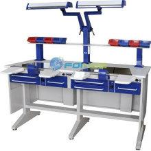 Équipements de laboratoire dentaire (Modèle: Poste de travail (double) EM-LT2) (homologué CE)