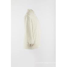 White fake fur warmly outer coat