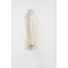 Белый искусственный мех тепло верхнее пальто