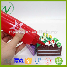 LDPE cream packaging empty round 3oz plastic squeeze bottle for cake