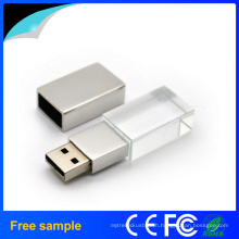 Free Sample 3D Engraving Logo Crystal USB Flash Drive