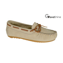 Women′s Moccasin Casual Driving Shoes Slip on Footwear with String