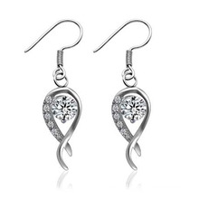 2014 Hot Affordable Silver Wedding Earrings